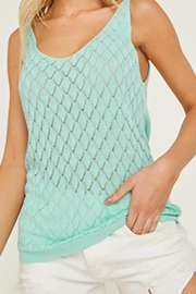 LLove USA Mint Sweater Tank - Product Mini Image