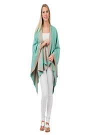 Top It Off Mint Taupe Poncho - Product Mini Image