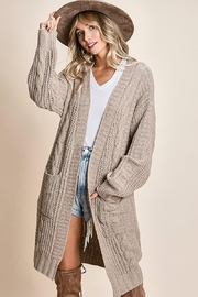Mint Cloud Boutique Chunky Cable Knit Cardigan - Product Mini Image