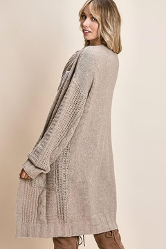 Mint Cloud Boutique Chunky Cable Knit Cardigan - Alternate List Image