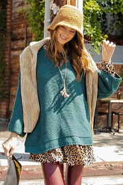 Mint Cloud Boutique Chunky Knit Boxy Pullover Sweater - Front cropped