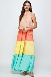 Mint Cloud Boutique Colorblock Rainbow Maxi Dress - Other