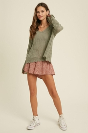Mint Cloud Boutique Crochet Textured Knit Pullover - Other