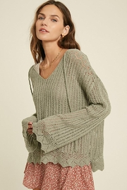 Mint Cloud Boutique Crochet Textured Knit Pullover - Product Mini Image
