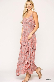 Mint Cloud Boutique Floral Ruffle Tiered Maxi Dress - Front full body