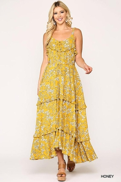 Shoptiques Product: Floral Ruffle Tiered Maxi Dress