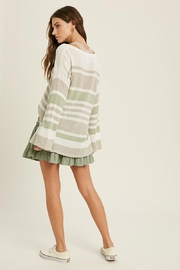 Mint Cloud Boutique Lightweight Colorblock Stripe Knit Pullover - Other