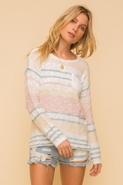 Mint Cloud Boutique Lightweight Cotton Variegated Stripe Knit - Back cropped