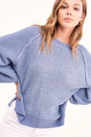 Mint Cloud Boutique Lightweight Knit Pullover Sweater Top - Front full body