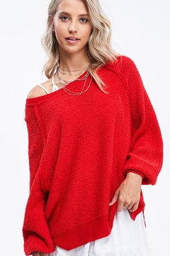 Mint Cloud Boutique Lightweight Knit Pullover Sweater Top - Product List Image