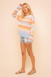 Mint Cloud Boutique Multi Colored Stripe Pullover Sweater Top - Other