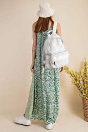 Mint Cloud Boutique Multi Ditsy Floral Maxi Dress - Front full body