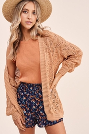 Mint Cloud Boutique Open Stitch Knit Cardigan - Front full body