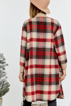 Mint Cloud Boutique Plaid Oversize Long Shirt Jacket Vintage Style - Alternate List Image