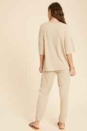 Mint Cloud Boutique Ribbed Casual Loungewear Set - Side cropped