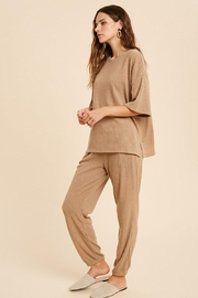 Mint Cloud Boutique Ribbed Casual Loungewear Set - Front full body