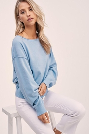 Mint Cloud Boutique Solid Boat Neck Sweater Top - Product Mini Image