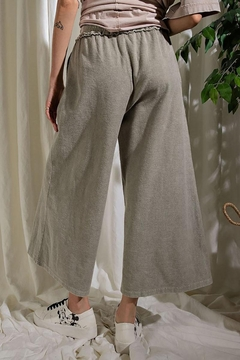 Mint Cloud Boutique Upaide Down French Terry Wide Leg Pants - Alternate List Image