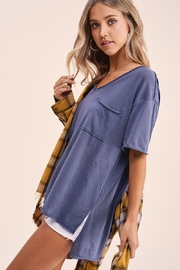 Mint Cloud Boutique Vintage Boxy Tunic Top - Side cropped