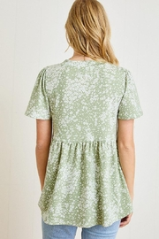 Mint Cloud Boutique Ditsy Floral Babydoll Tunic - Side cropped