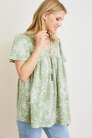 Mint Cloud Boutique Ditsy Floral Babydoll Tunic - Front full body