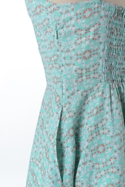 Comme Toi Minty Floral Dress - Back cropped