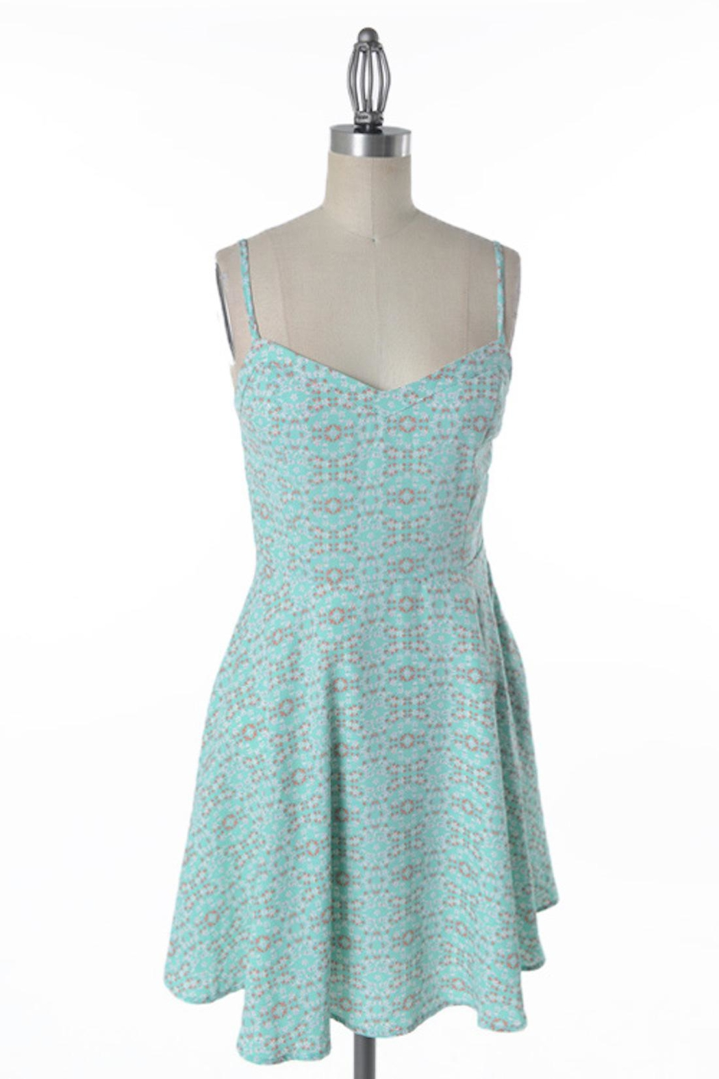 Comme Toi Minty Floral Dress - Main Image