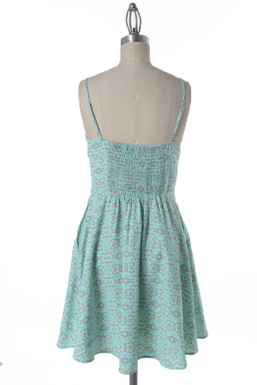 Comme Toi Minty Floral Dress - Side Cropped Image
