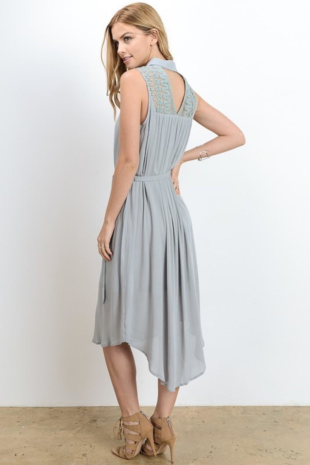 Doe & Rae Minty Gray Dress - Front Full Image