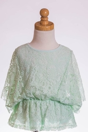 ML Kids Minty Lace Top - Front cropped