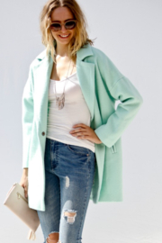 Event Minty Wool Coat - Product Mini Image