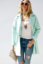 Event Minty Wool Coat - Front full body
