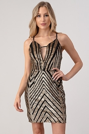 Minuet Chevron Sequin Dress - Product Mini Image