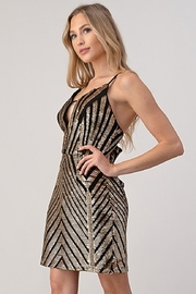 Minuet Chevron Sequin Dress - Side cropped