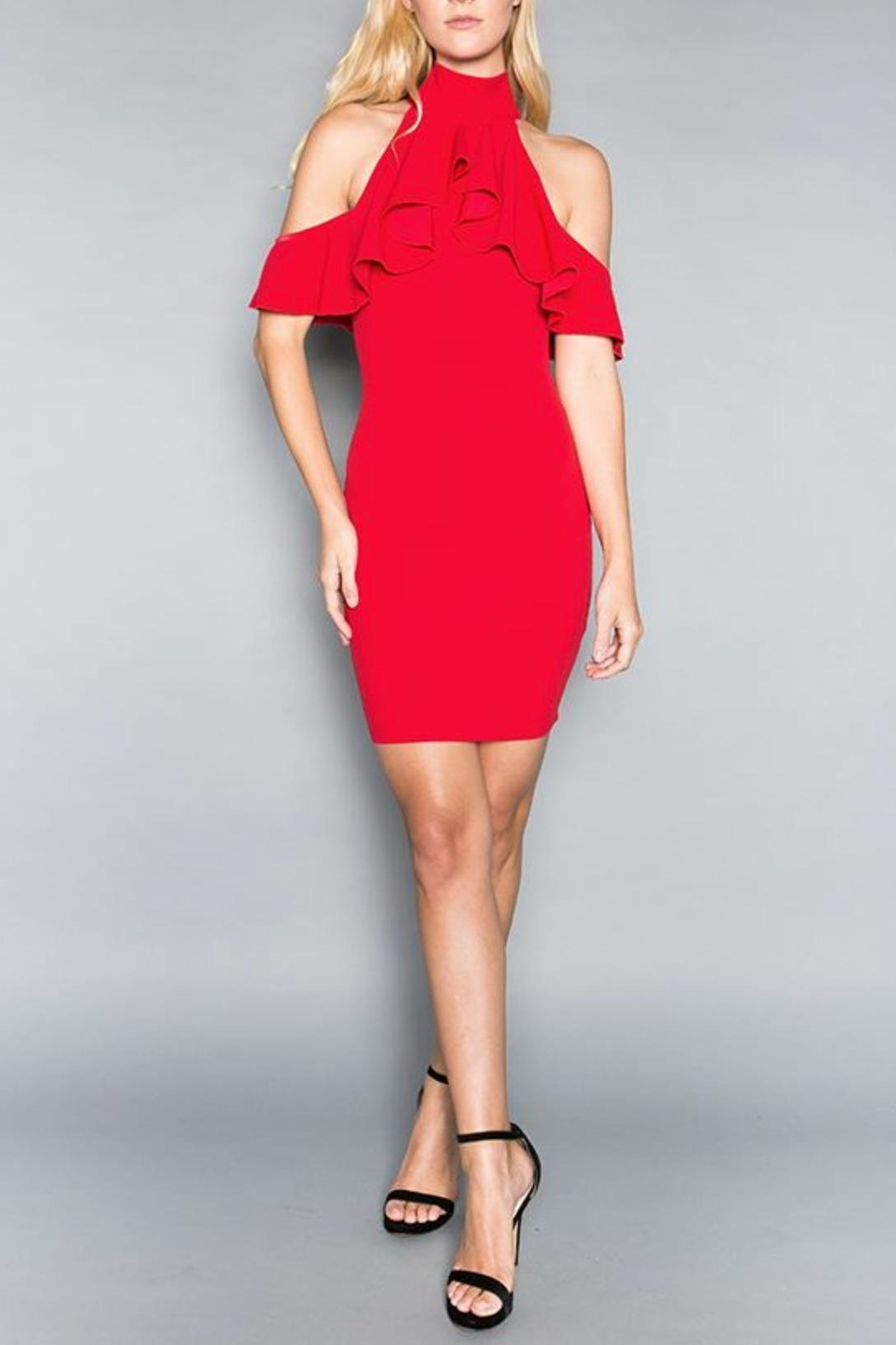 Minuet Cold-Shoulder Cocktail Dress - Front Full Image