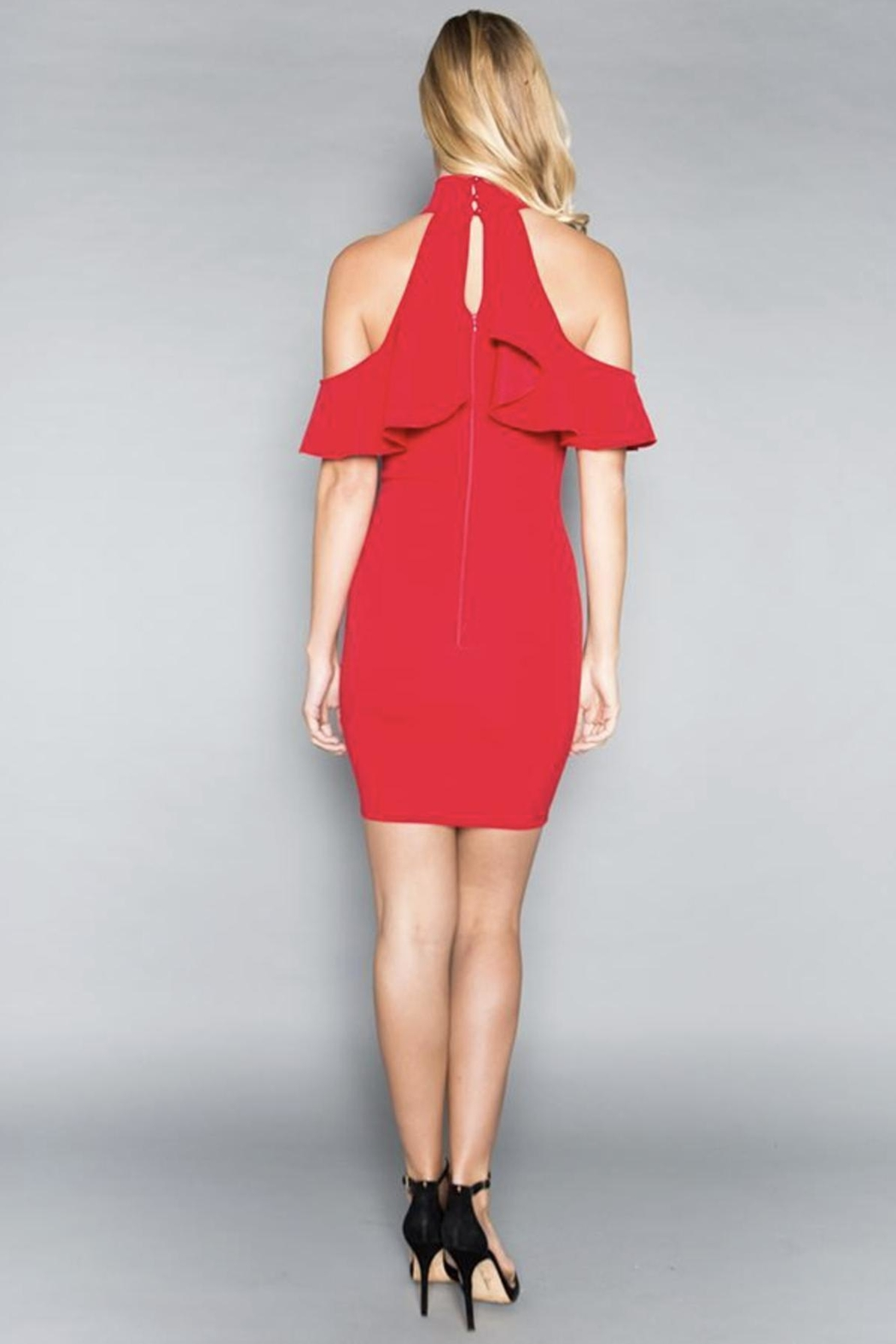Minuet Cold-Shoulder Cocktail Dress - Side Cropped Image