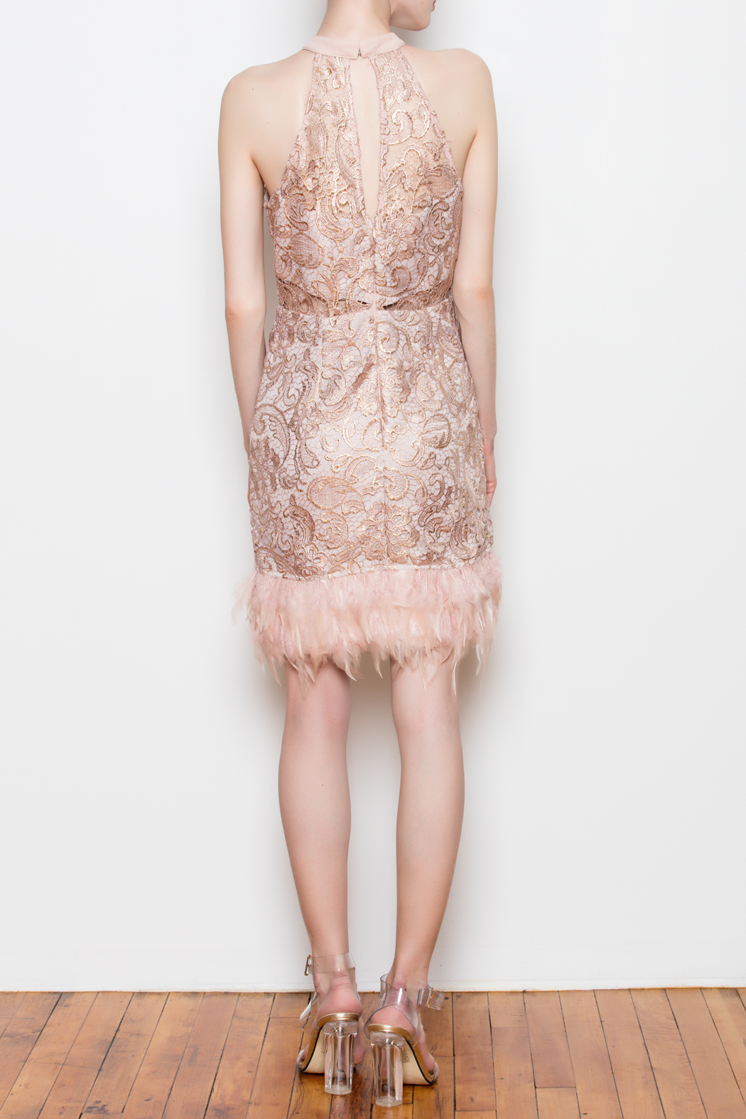 Minuet Feather Trim Dress from Louisiana by Bella Bella — Shoptiques