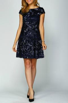 Shoptiques Product: Navy Sequined Dress