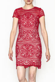 Minuet Red Lace Dress - Product Mini Image