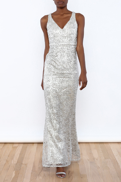 Shoptiques Product: Silver Mermaid Gown