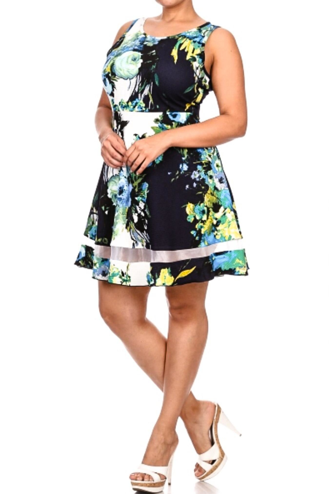 Minx 3x Floral A-Line - Front Cropped Image