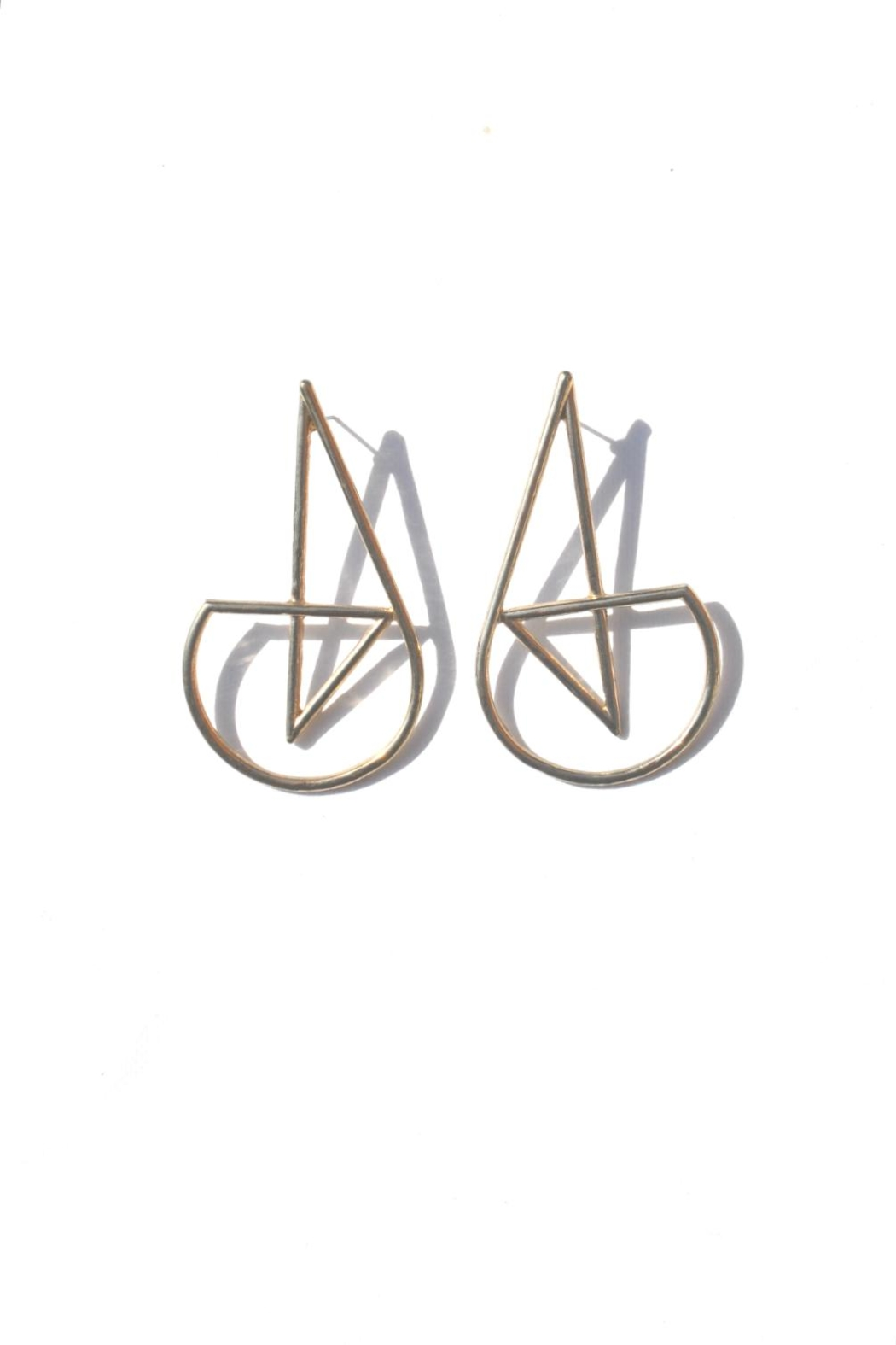 Minx Abstract Gold Earrings - Front Cropped Image