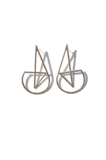 Minx Abstract Gold Earrings - Main Image