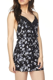 Minx Backless Floral Romper - Product Mini Image