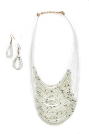 Minx Beaded Bib Necklace - Front cropped