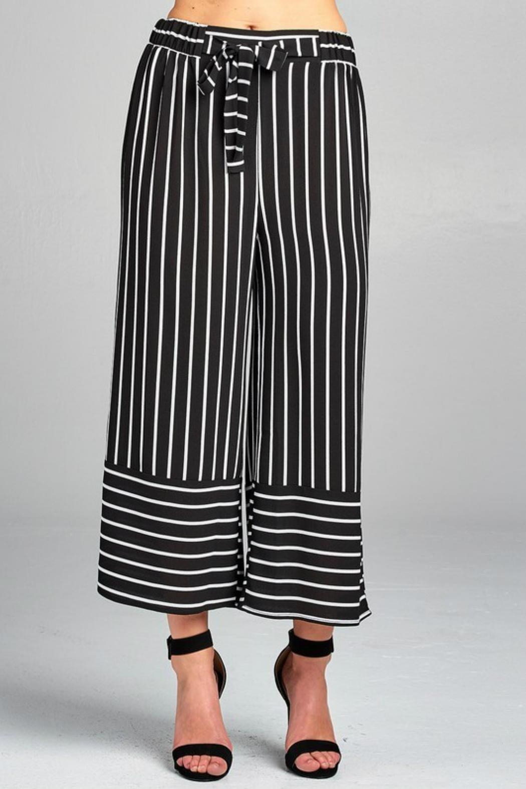 Minx Pinstriped Herring Trousers - Back Cropped Image