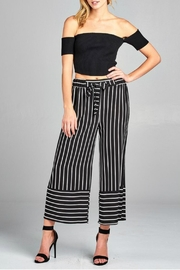 Minx Pinstriped Herring Trousers - Front cropped