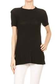 Minx Black Strapped Blouse - Front full body