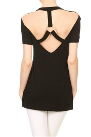 Minx Black Strapped Blouse - Product Mini Image