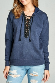 Minx Blue Laceup Sweater - Product Mini Image